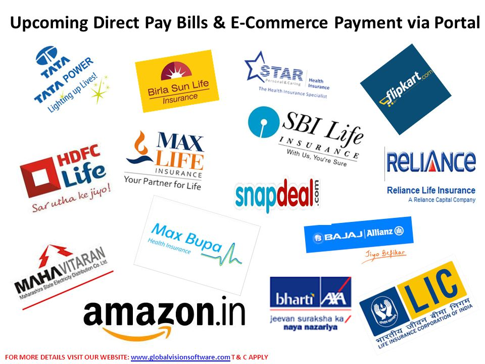 Upcoming Direct Pay Bills & E-Commerce Payment via Portal FOR MORE DETAILS VISIT OUR WEBSITE: www.globalvisionsoftware.com T & C APPLYwww.globalvisionsoftware.com