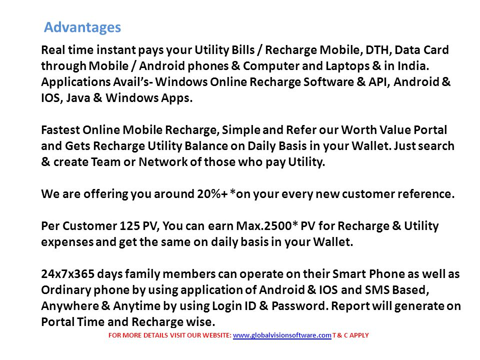 Real time instant pays your Utility Bills / Recharge Mobile, DTH, Data Card through Mobile / Android phones & Computer and Laptops & in India.
