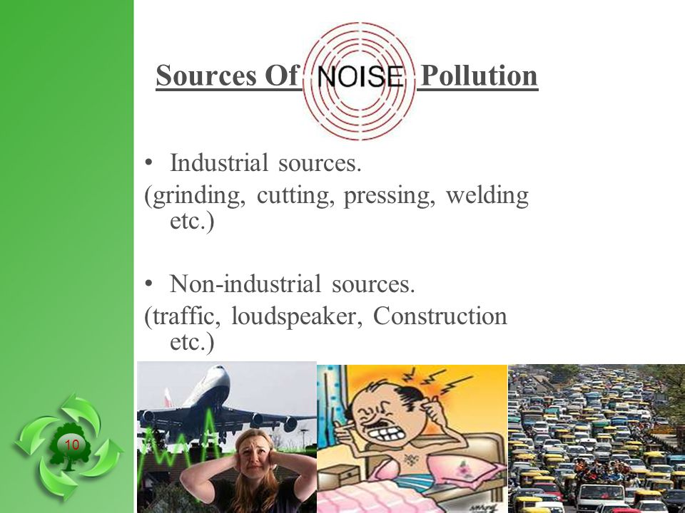 Sources Of Pollution Industrial sources.