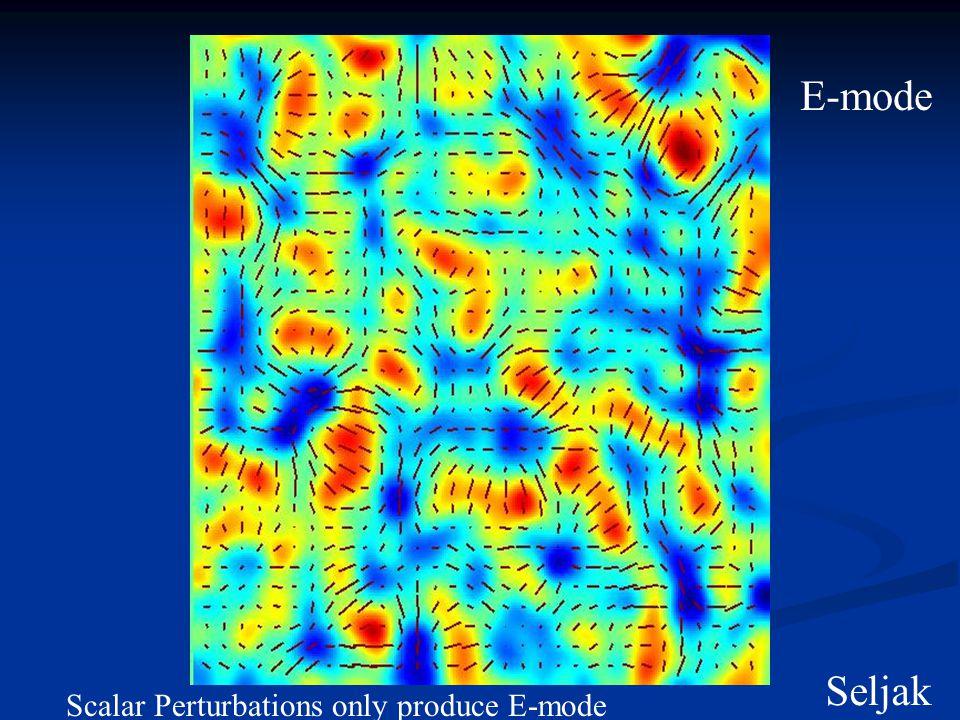 E-mode Seljak Scalar Perturbations only produce E-mode