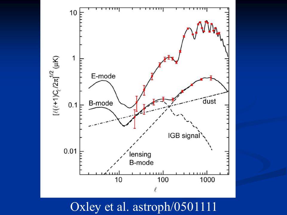 Oxley et al. astroph/0501111