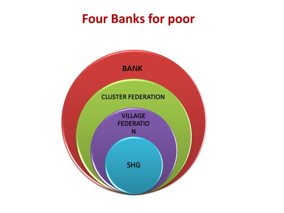 VILLAGE FEDERATIO N SHG Four Banks for poor CLUSTER FEDERATION BANK