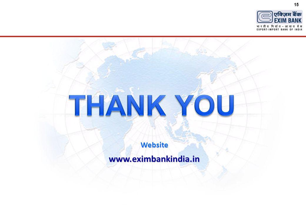 15 Website www.eximbankindia.in