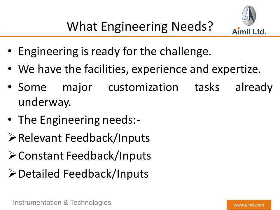 What Engineering Needs. Engineering is ready for the challenge.