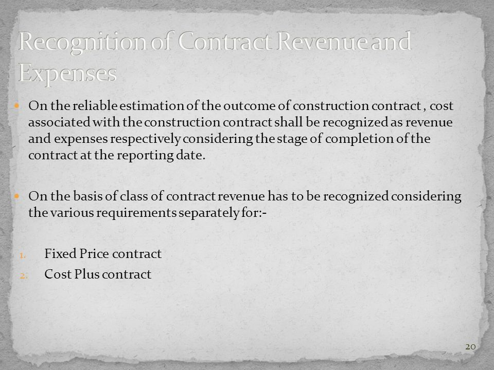 On the reliable estimation of the outcome of construction contract, cost associated with the construction contract shall be recognized as revenue and