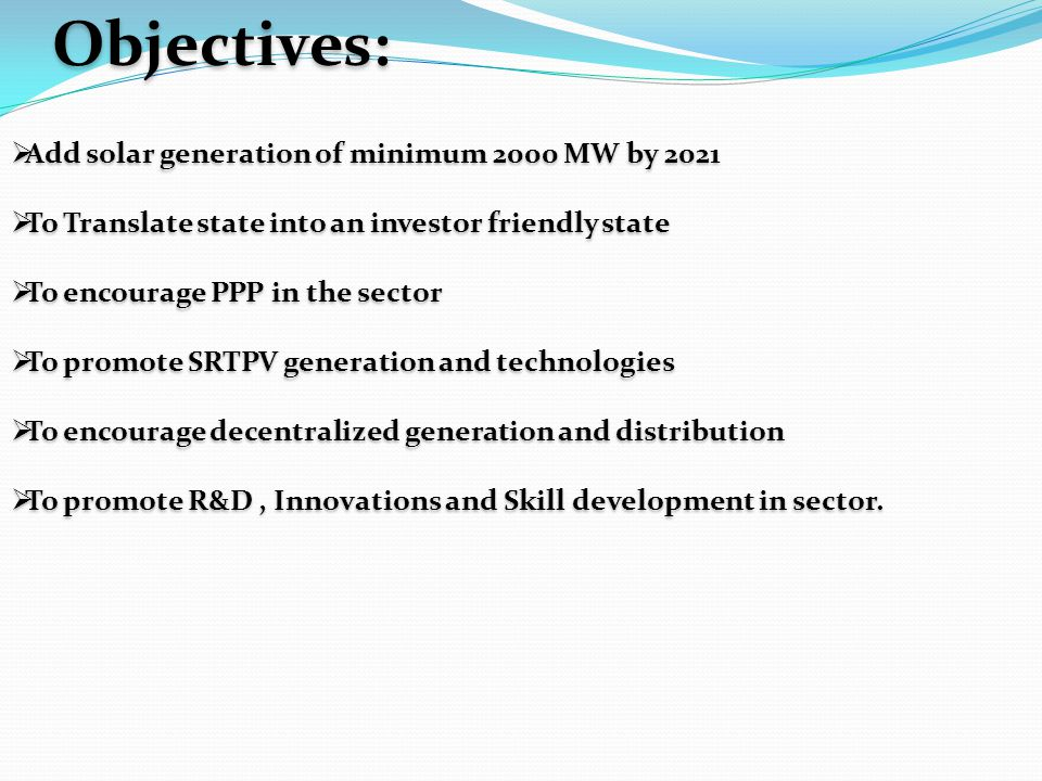  Minimum targets proposed The Govt.