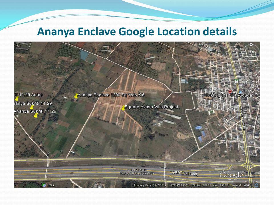 Ananya Enclave Google Location details