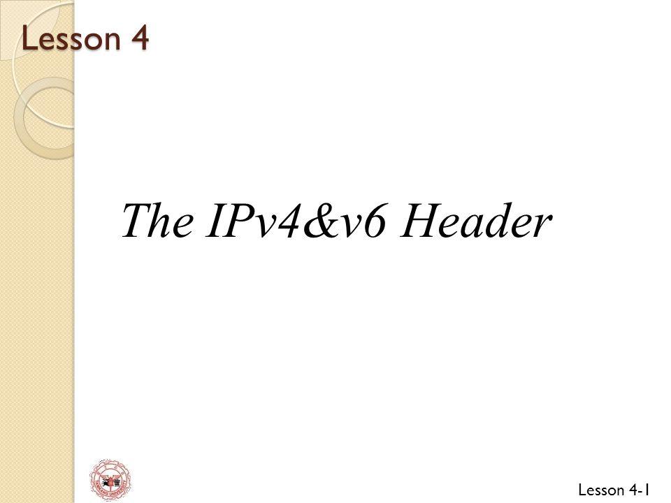 Lesson 4-52 資 管 Source Address Destination Address Upper Layer Packet Length Zero Next Header = 0 Structure of the IPv6 Pseudo- Header