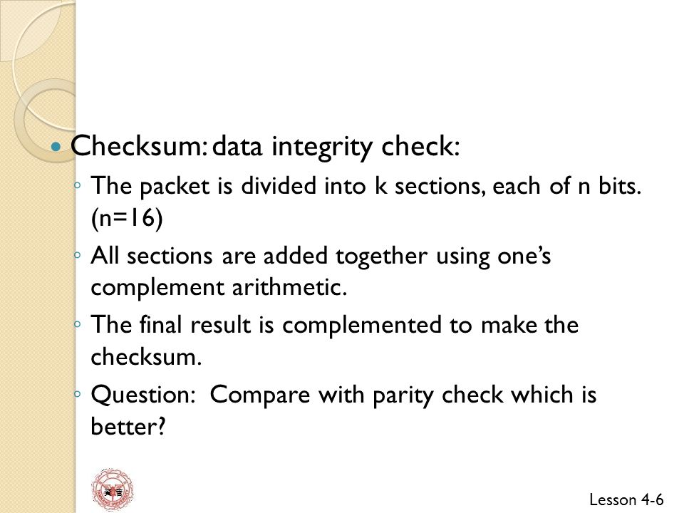 Lesson 4-17 資 管 In IPv4, router perform the following: Checksum Verification [may skip it] Verify the version Decrement the value of TTL field.
