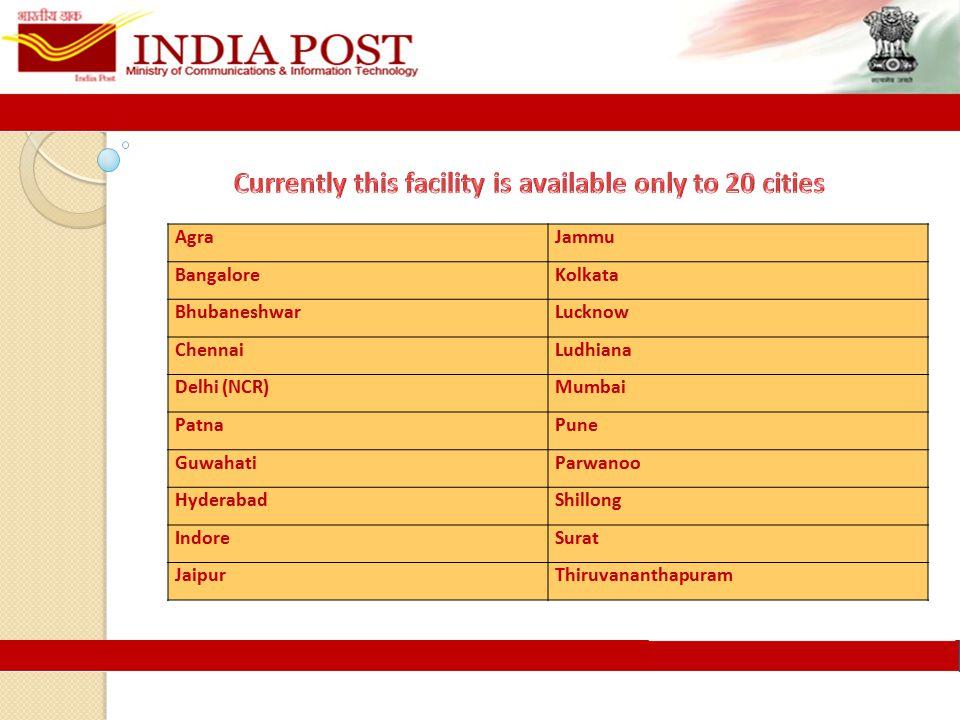 AgraJammu BangaloreKolkata BhubaneshwarLucknow ChennaiLudhiana Delhi (NCR)Mumbai PatnaPune GuwahatiParwanoo HyderabadShillong IndoreSurat JaipurThiruvananthapuram