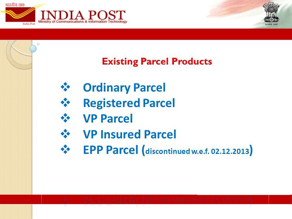  New services introduced as per the customer needs – More focus on Bulk Customer  End to End transmission of data and tracking of consignments from booking to delivery  Cash on Delivery facility as value addition to provide fast and economical remittance  No mandatory insurance  Track and Trace facility to customers
