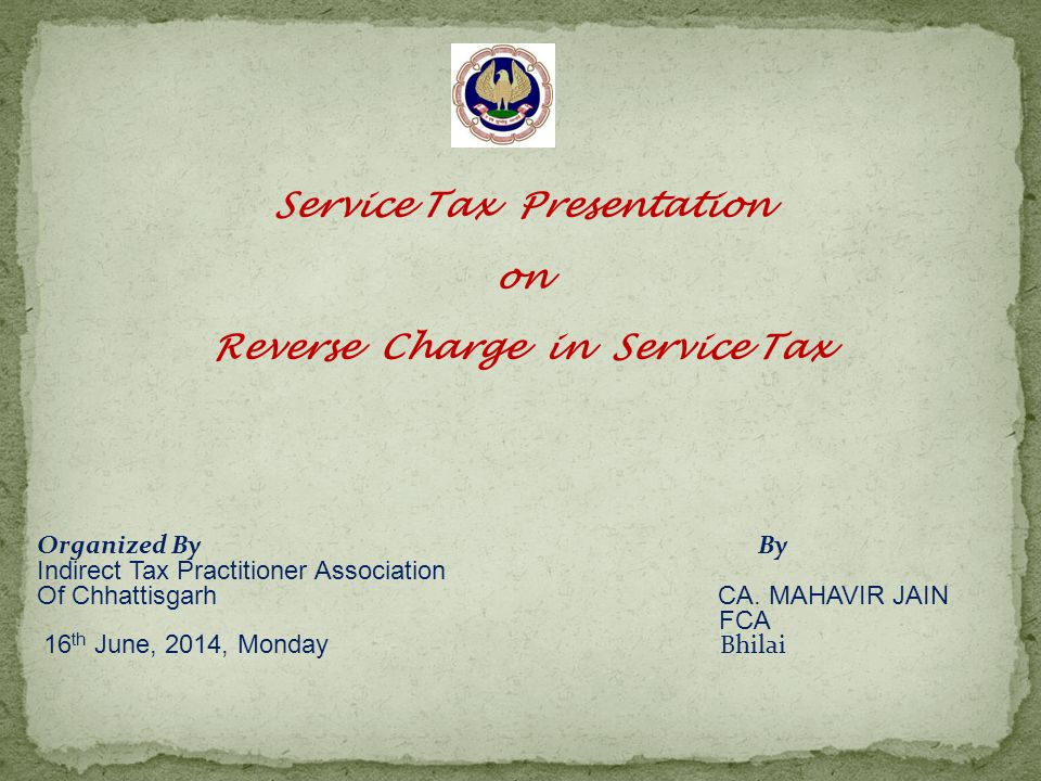 Rent-a-cab Service Reverse charge will be applicable when renting to a person who is not in similar line of business Service receiver will pay on 40% in every case whether abatement is claimed or not No Cenvat credit (not an input service) Cost to company 32