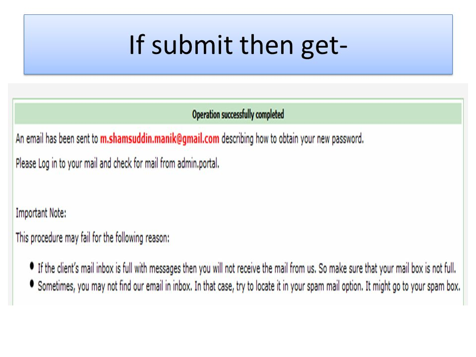 If submit then get-