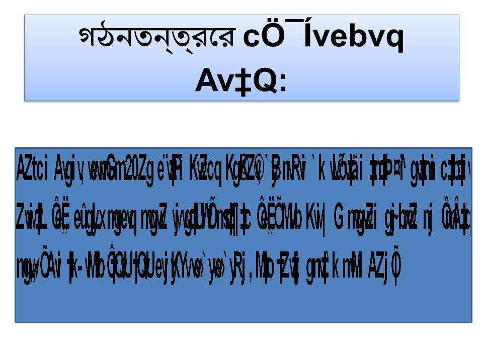গঠনতন্ত্রের cÖ¯Ívebvq Av‡Q:
