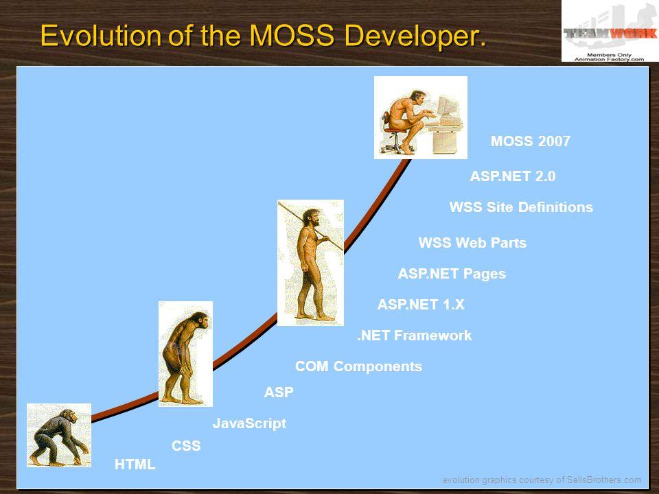Evolution of the MOSS Developer.