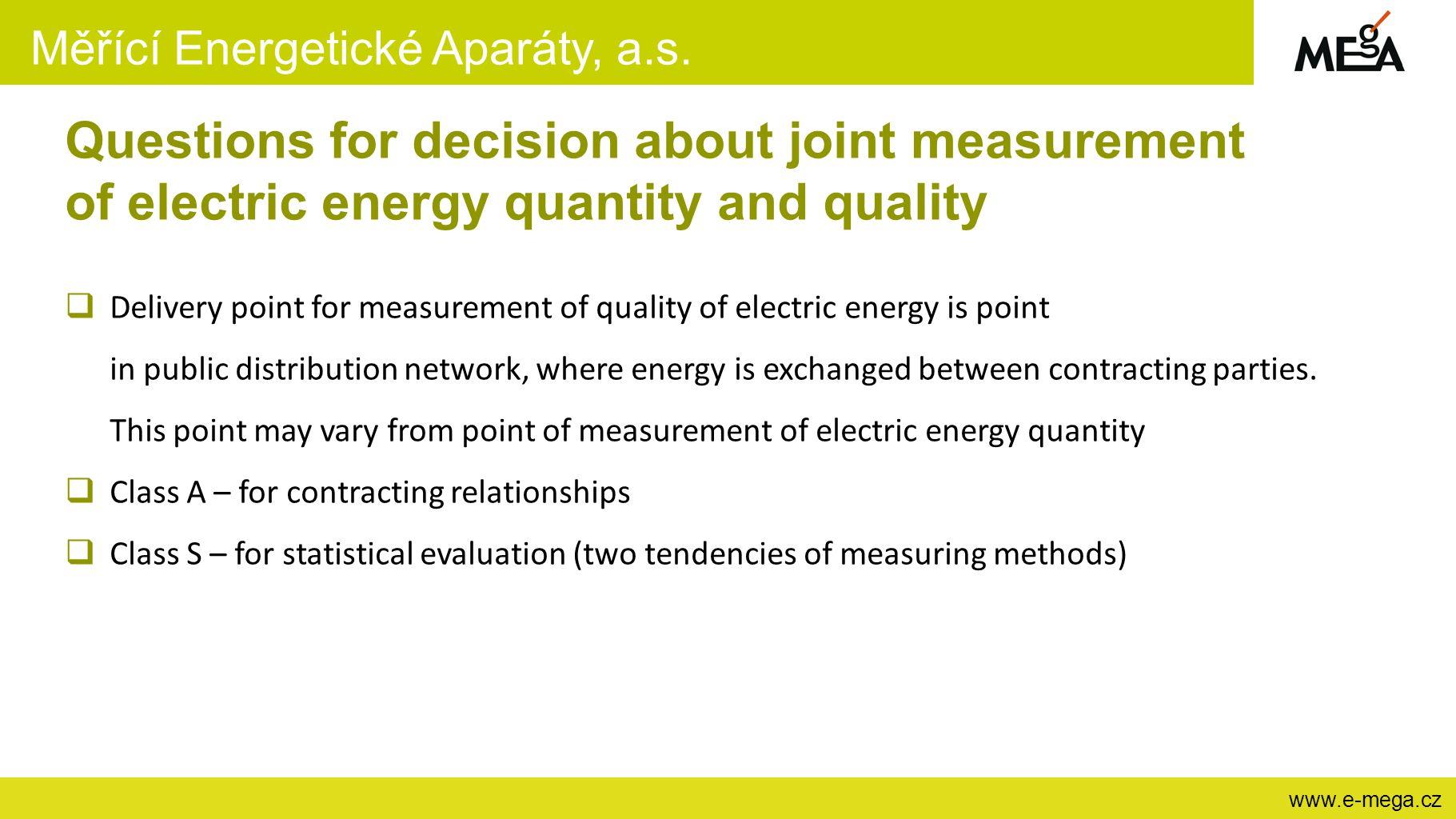 Měřící Energetické Aparáty, a.s.