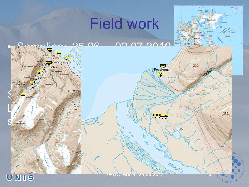 Field work Sampling: 25.06.