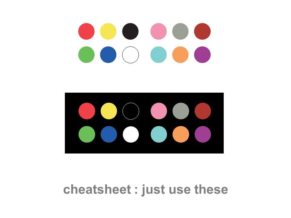 cheatsheet : just use these