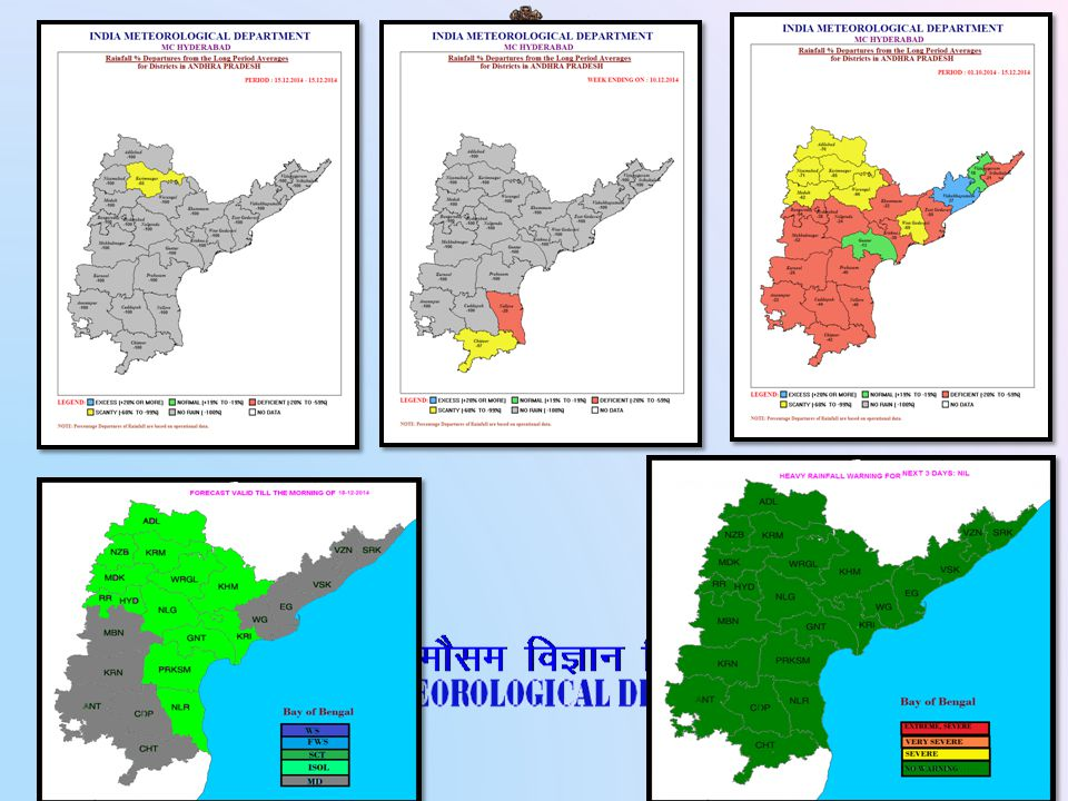 Rainfall Monitoring in met subdivision scale Monthly scale Weekly scale Seasonal scale