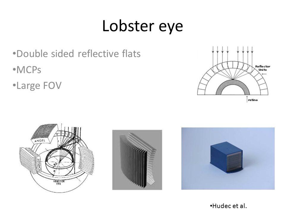 Lobster eye Double sided reflective flats MCPs Large FOV Hudec et al.