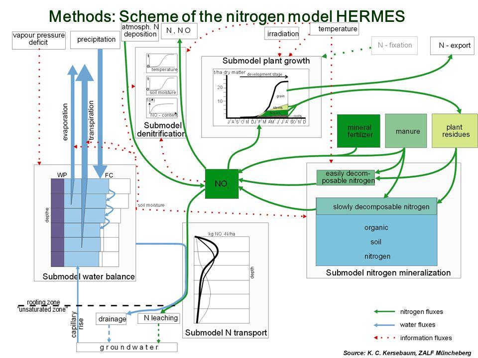 Methods: Scheme of the nitrogen model HERMES