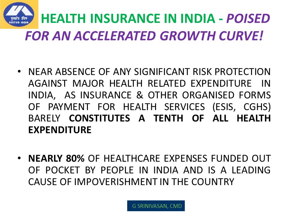 HEALTH INSURANCE IN INDIA - POISED FOR AN ACCELERATED GROWTH CURVE! NEAR ABSENCE OF ANY SIGNIFICANT RISK PROTECTION AGAINST MAJOR HEALTH RELATED EXPEN