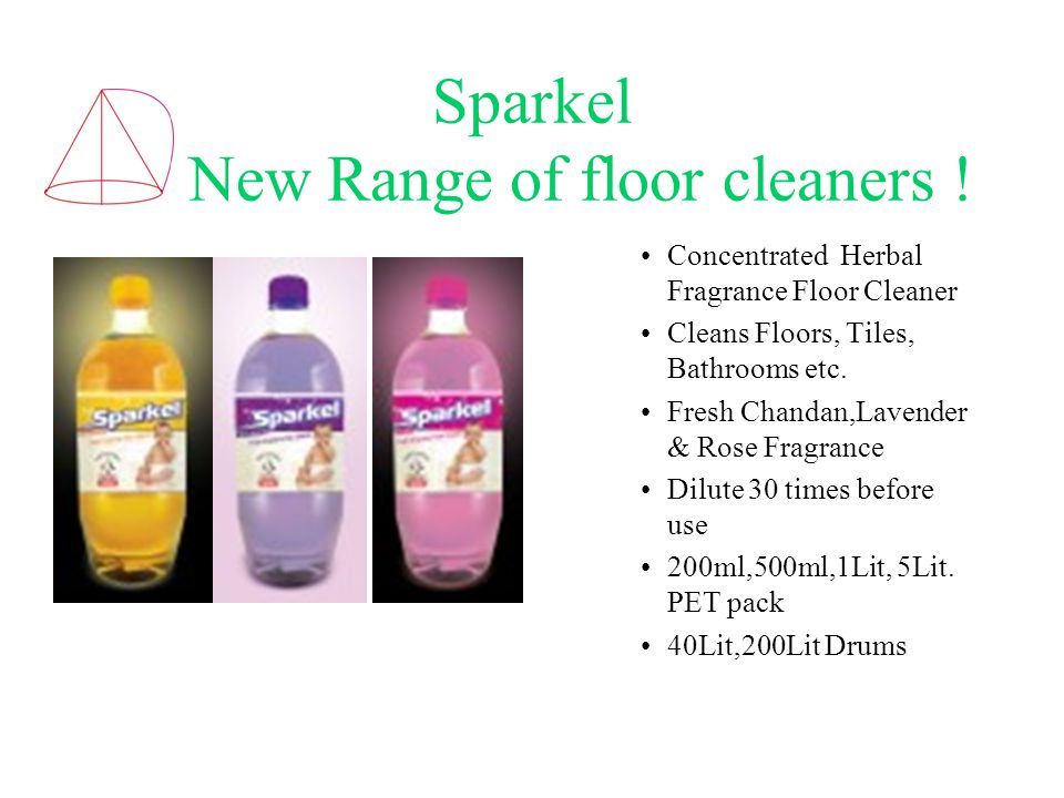 Sparkel New Range of floor cleaners .