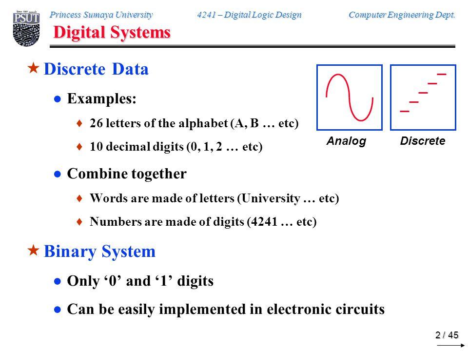 Princess Sumaya Univ. Computer Engineering Dept. Chapter 1: