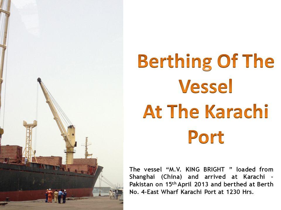 The vessel M.V.