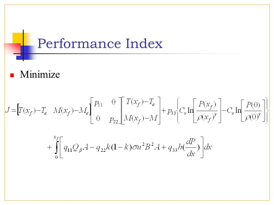 Performance Index Minimize