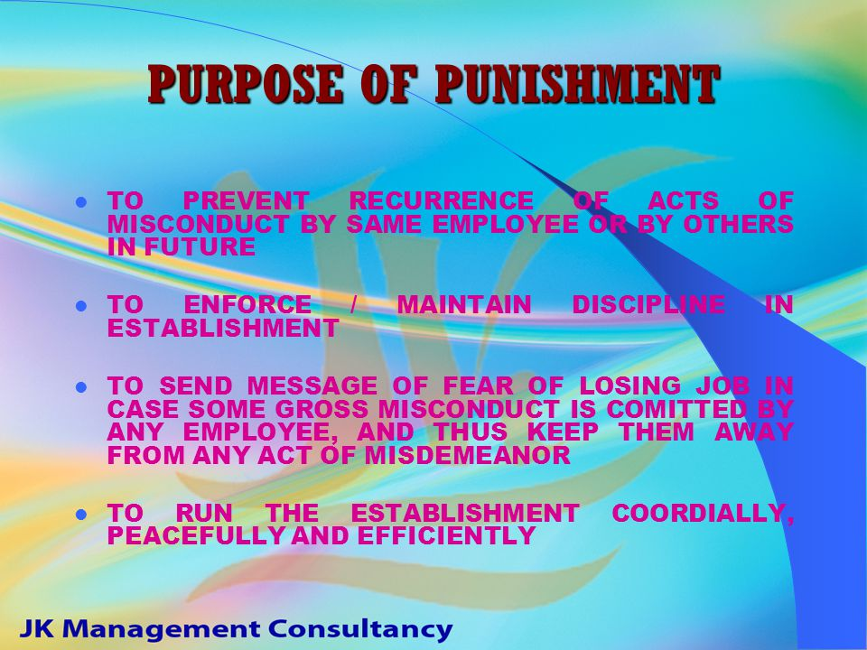 KINDS OF PUNISHMENT PREVENTIVE RETRIBUTIVE CORRECTIVE