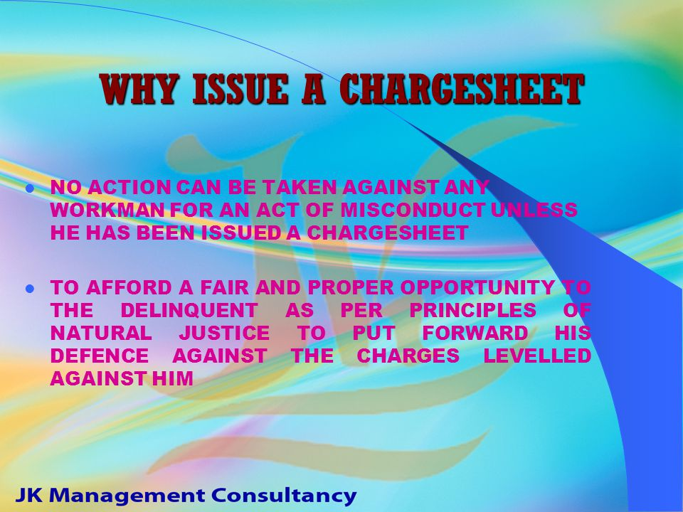 WHAT IS A CHARGESHEET A MEMO OF ACCUSATIONS VIOLATION OF SERVICE CONDITIONS / RULES / REGULATIONS ETC.
