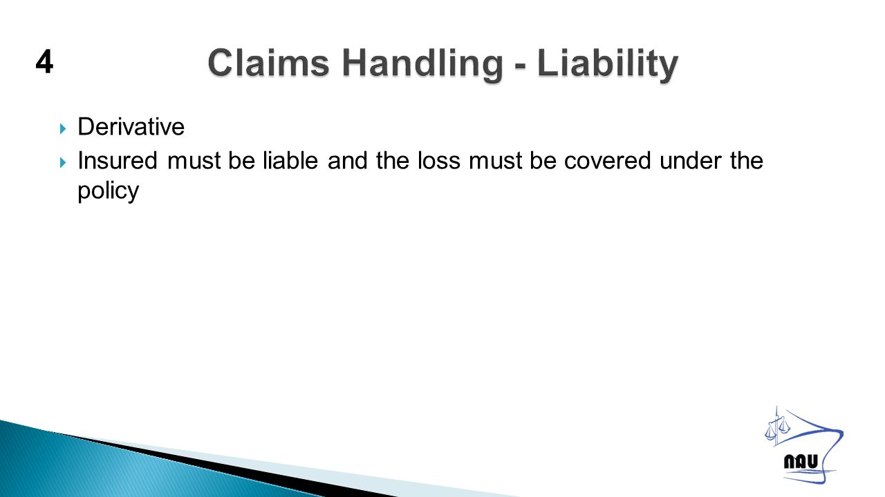  Direct Claimant to correct contractual party / cargo insurer  Advantage – claim will be adjusted and may become time barred by the time it reaches the Insured  Protect recovery rights – any overlying carrier who may be at fault.