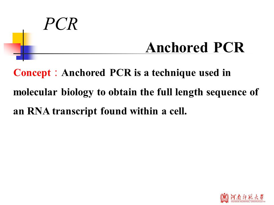 Concept : Anchored PCR is a technique used in molecular biology to obtain the full length sequence of an RNA transcript found within a cell.