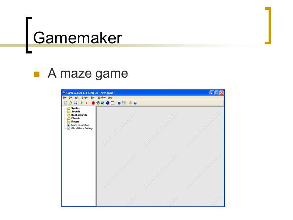 Gamemaker A maze game