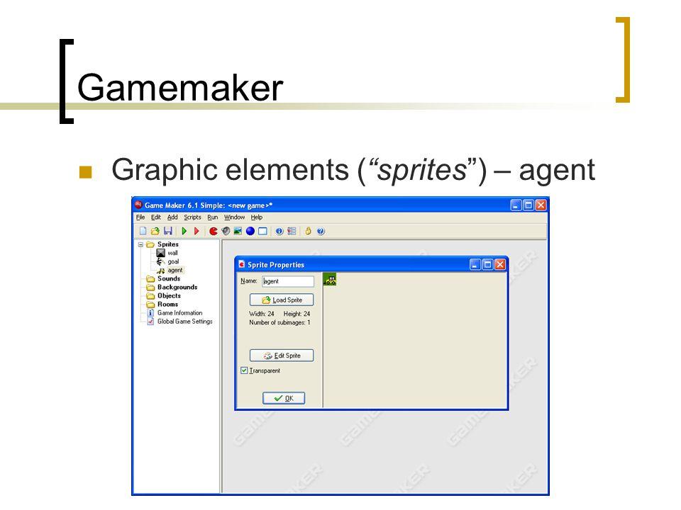 Gamemaker Graphic elements ( sprites ) – agent