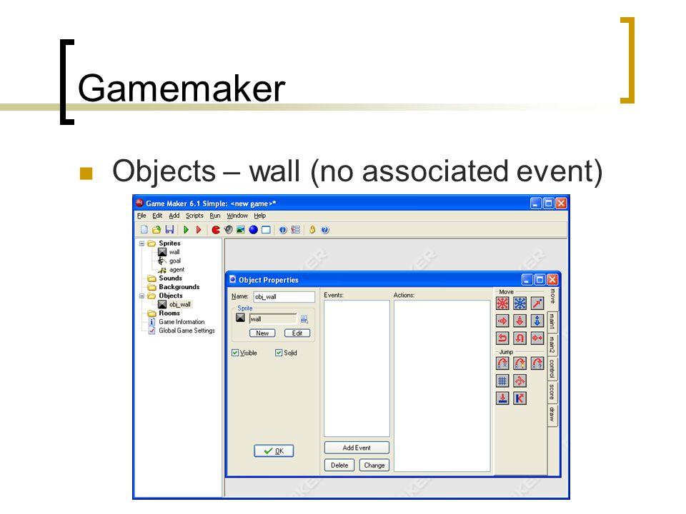 Gamemaker Objects – wall (no associated event)