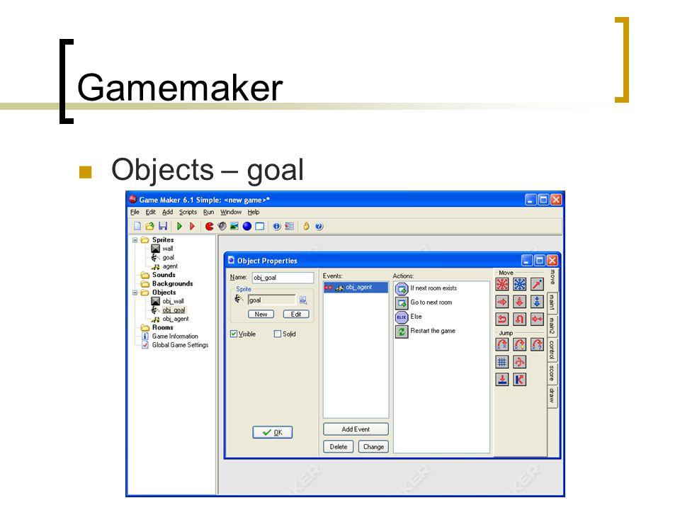 Gamemaker Objects – goal