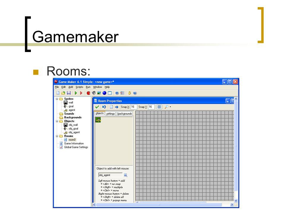 Gamemaker Rooms: