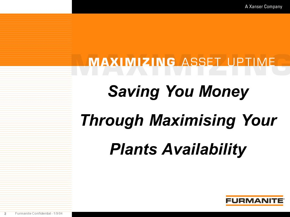 23Furmanite Confidential - 1/9/04 Trevitest Cost Effective Safety & Relief Valve Testing Benefits No Interruption No Interruption to Plant to Plant Reduced time Reduced time to Commission to Commission Reduced Fuel Reduced Fuel cost cost No Removal No Removal
