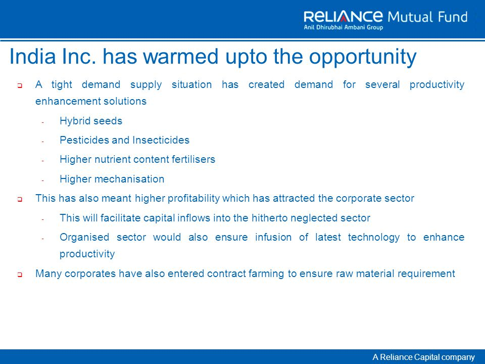 A Reliance Capital company India Inc.