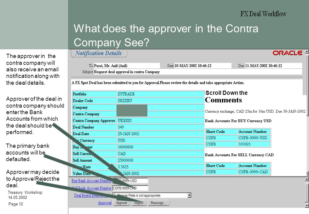 Page 12 What does the approver in the Contra Company See.