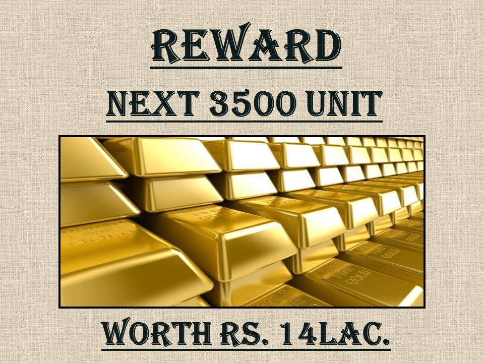 REWARD Next 3500 unit Worth rs. 14lac.