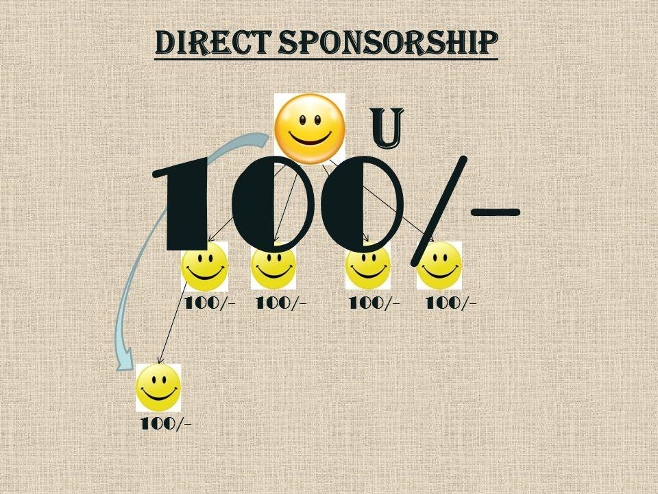 DIRECT SPONSORSHIP U 100/-