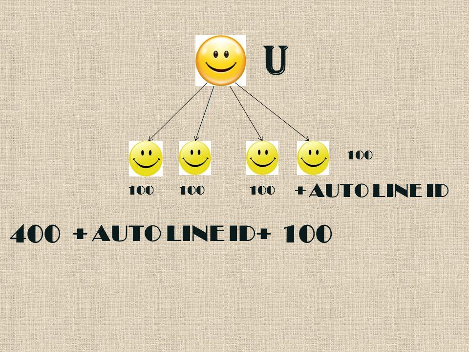 U 100 + AUTO LINE ID + 400100 + AUTO LINE ID