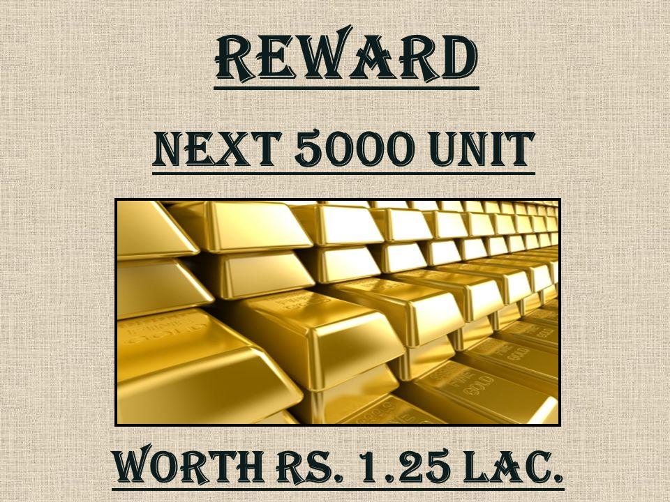 REWARD Next 5000 unit Worth rs. 1.25 lac.