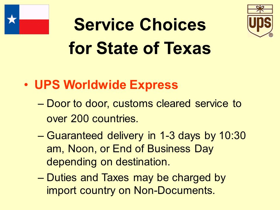 UPS Second Day Air –UPS 2nd Day Air A.M. service is available for delivery to metropolitan commercial addresses where UPS Next Day Air delivery is com