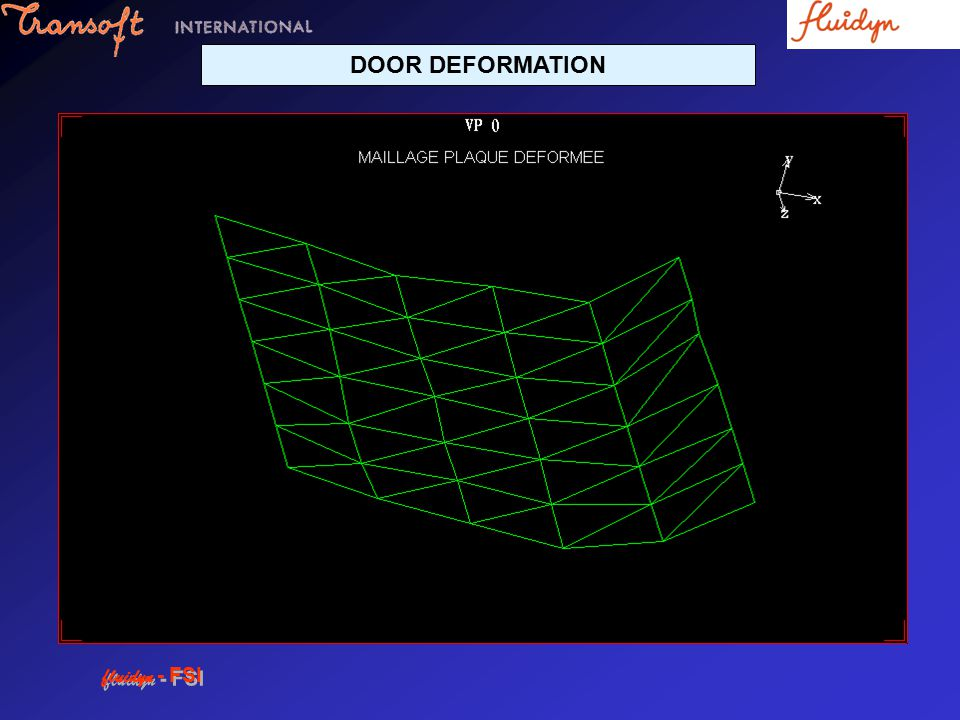 DOOR DEFORMATION fluidyn - FSI