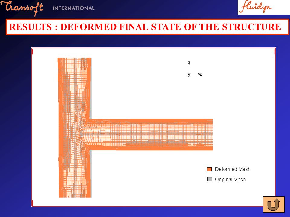 RESULTS : DEFORMED FINAL STATE OF THE STRUCTURE
