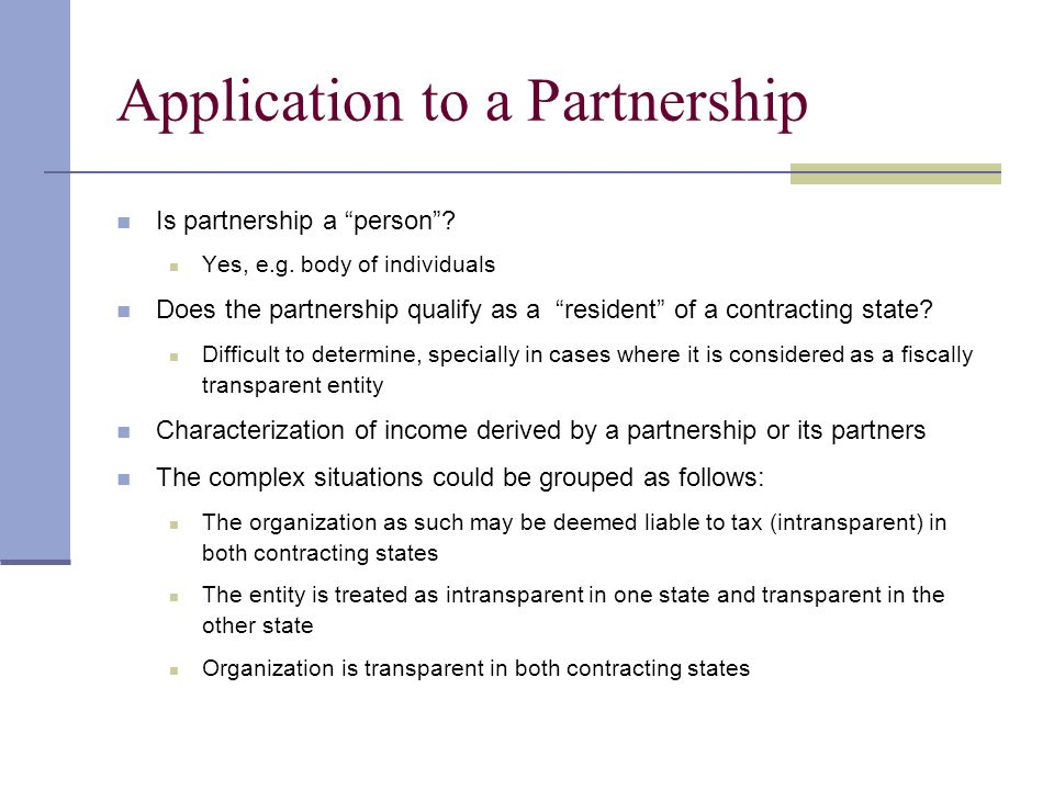 Application to a Partnership Is partnership a person .